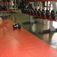 Decorative gym floor tiles