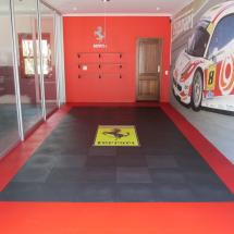 Personalized garage floor for the enthusiast